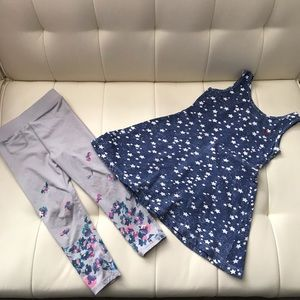 Baby Girl Set of Two Legging and Dress Size 3T